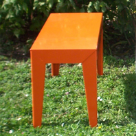 Banc ZEF Orange Mat Aluminium