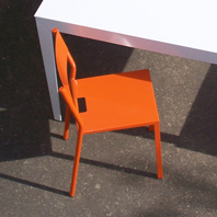 Chaise Take Orange