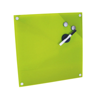 le tableau mmo magntique en verre design vert anis - Tableau Cuisine Vert Anis