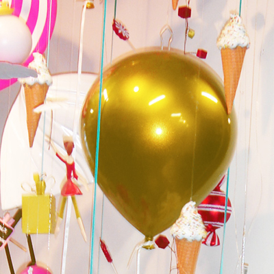 BALLON DECO GM à Suspendre Or pour 32€