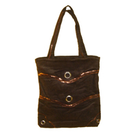 Le Sac Vague Velours Marron