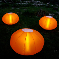 TRIOLUM Lampes de Jardin Gonflable Orange