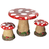 Ensemble Table Tabourets Champignon