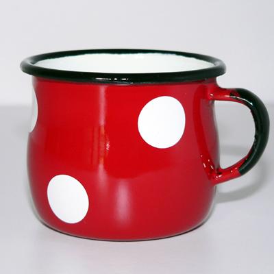 Mug Gros Pois Rouge Emaillé pour 9€