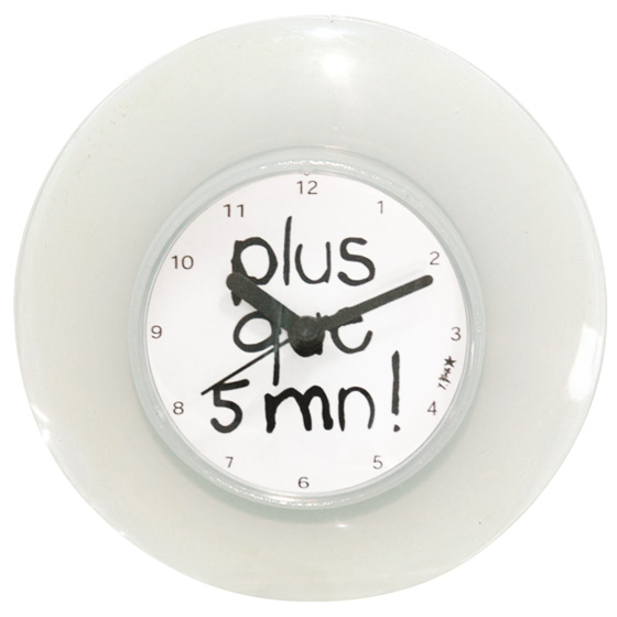 Horloge Ventouse Plus que 5 minutes INCIDENCE - Horloge ...