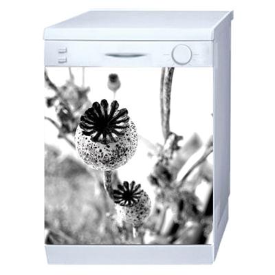 Magnet Déco Lave Vaisselle Pavots N&B pour 50€