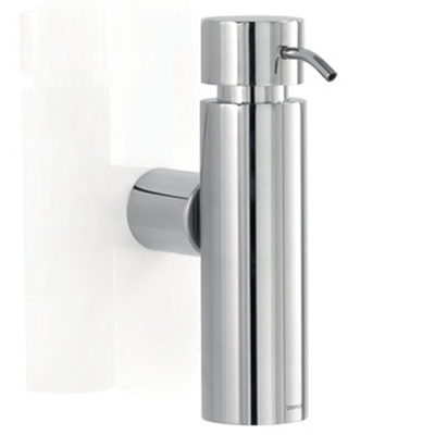 Distributeur de savon mural design inox poli blomus - Accessoires salle de bain design inox ...