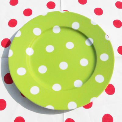 Assiette de Table Pois Vert Clair SABRE pour 16€