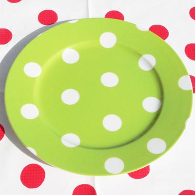 Assiette à Dessert Pois Vert Clair SABRE pour 11€