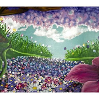 Papier Peint La Rivière de Fleurs 300 x 260 cm pour 359€