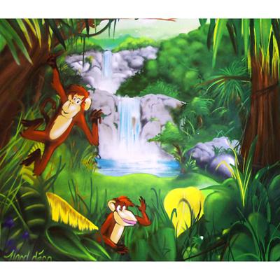 Papier Peint La Forêt des Singes Farceurs 300 x 260 cm pour 359€