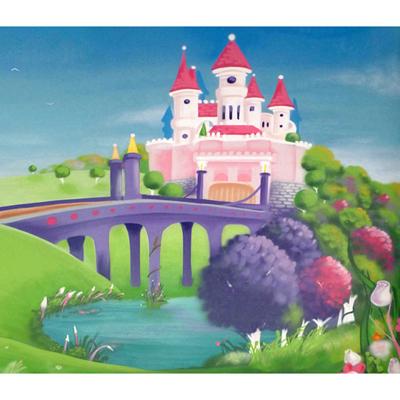 Papier Peint Le Château de Princesse 300 x 260 cm pour 359€
