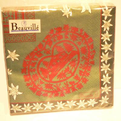 Serviettes en Papier CORTINA Vert Beauvillé pour 5€
